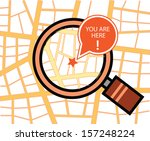 You are here map with magnifying glass