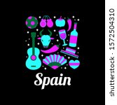 spain logo with flat bunch of... | Shutterstock .eps vector #1572504310