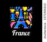 france logo with flat bunch of... | Shutterstock .eps vector #1572504313
