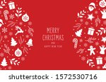 christmas icons elements... | Shutterstock .eps vector #1572530716