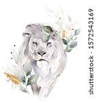 leo   fashion watercolor... | Shutterstock . vector #1572543169