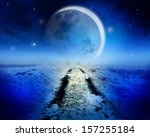 night landscape with road... | Shutterstock . vector #157255184