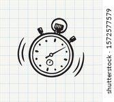 stopwatch doodle icon. hand...   Shutterstock .eps vector #1572577579
