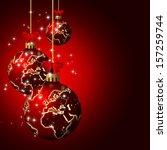 Christmas Glass Balls With...