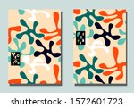 trendy cover with abstract... | Shutterstock .eps vector #1572601723