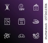 meal icons line style set with... | Shutterstock .eps vector #1572611506