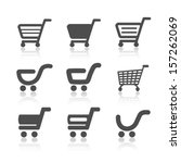 vector simple shopping cart ... | Shutterstock .eps vector #157262069