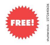free  red badge design. retail... | Shutterstock .eps vector #1572640636