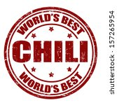 Grunge rubber stamp with the word Chili written inside the stamp