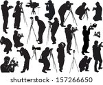 illustration with photographers ... | Shutterstock .eps vector #157266650