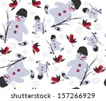 christmas vector seamless with... | Shutterstock .eps vector #157266929