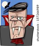 cartoon illustration of creepy... | Shutterstock .eps vector #157266989