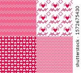valentine's day patterns. set... | Shutterstock .eps vector #1572675430