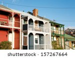 weatherboard homes on a... | Shutterstock . vector #157267664