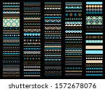 border  ribbon  divider set.... | Shutterstock .eps vector #1572678076