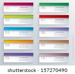 vector eps10 numbered banners. | Shutterstock .eps vector #157270490