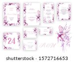 wedding floral invite ...   Shutterstock . vector #1572716653