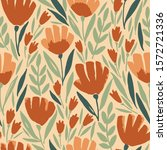 seamless pattern with floral... | Shutterstock .eps vector #1572721336
