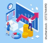 isometric business to business... | Shutterstock .eps vector #1572744490