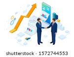 isometric business to business... | Shutterstock .eps vector #1572744553