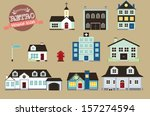 retro style vector collection... | Shutterstock .eps vector #157274594