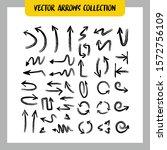 arrow doodles collection. hand... | Shutterstock .eps vector #1572756109
