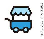 food cart icon isolated on...   Shutterstock .eps vector #1572759226