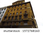Small photo of Antediluvian monumental architecture on the streets of Rome.