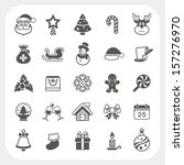 christmas and winter icons set  ... | Shutterstock .eps vector #157276970