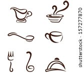 cooking utensils - kitchen icons