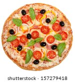 Tasty  Flavorful Pizza Isolate...