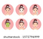 cute cartoon girl taking care...   Shutterstock .eps vector #1572796999