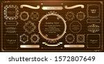 royal monogram frame. hand... | Shutterstock .eps vector #1572807649
