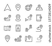 route line icons set vector... | Shutterstock .eps vector #1572814009