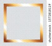 golden frame on transparent... | Shutterstock .eps vector #1572818119