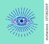 all seeing eye or divine...   Shutterstock .eps vector #1572822019