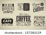 retro  typography  coffee shop  ...   Shutterstock .eps vector #157283129