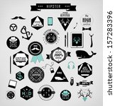 hipster style elements  icons... | Shutterstock .eps vector #157283396