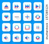 16 media icon set 06  gradient...