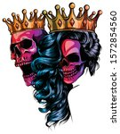 king and queen of death.... | Shutterstock .eps vector #1572854560