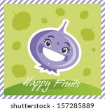 happy fruits blueberry | Shutterstock .eps vector #157285889