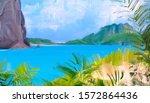 tropical digital painting.... | Shutterstock . vector #1572864436