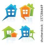 buy your own home  vector... | Shutterstock .eps vector #157286669