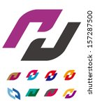 "design vector logo template. ""c""... | Shutterstock .eps vector #157287500"