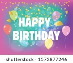 Happy Birthday Banner With...