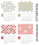 japanese calendar template for... | Shutterstock .eps vector #1572893656