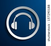 stock icons headphones | Shutterstock .eps vector #157290188