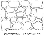 hand drawn background set of... | Shutterstock .eps vector #1572903196