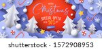 christmas sale promotion banner ... | Shutterstock .eps vector #1572908953