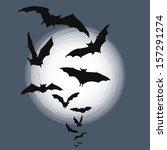 halloween background   flying... | Shutterstock . vector #157291274